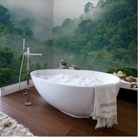 Green Magnificent Mountain Scenery Waterproof 3D Bathroom Wall Murals