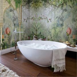 Natural Lush Forest Pattern Design Waterproof 3D Bathroom Wall Murals