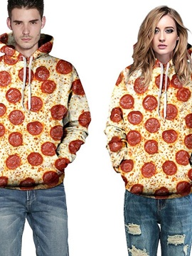 Attractive Long Sleeve Pizza Pattern 3D Painted Hoodie