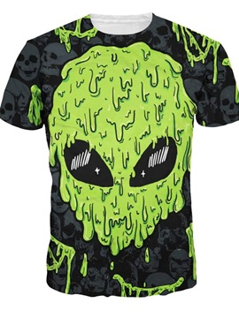 ET Head Printed Graphic Unisex Casual Short Sleeve 3D Pattern T-Shirt
