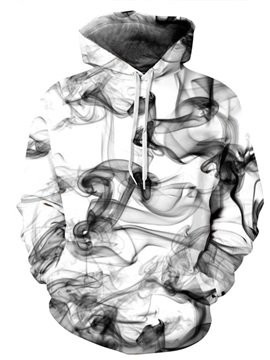 Ink Painting Art Style 3D Pattern Long Couple Sleeve Spandex 3D Pattern Soft Hoodie