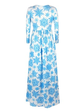 3D Pattern Snow Pattern Long Evening Party Cocktail Dress