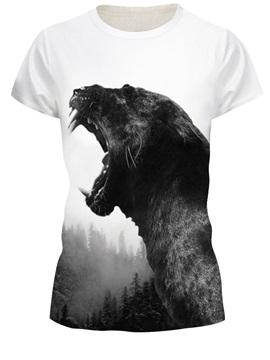 Animal Pattern Summer Round Neck Straight Model 3D T-shirt
