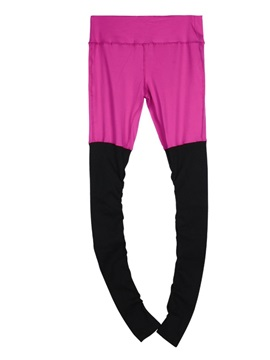 Color Matching Style Full Length Elastics Closure Type Skinny Model Sport Pants