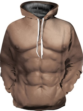 Cool Long Sleeve Firm Muscles Pattern 3D Painted Hoodie
