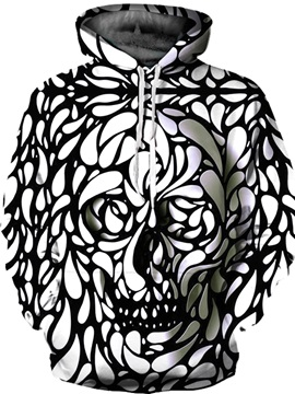 Pullover Unisex Kangaroo Pockets Digital Graphic 3D Painted Hoodie