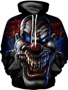 Long Sleeve Evil Clown Pattern 3D Painted Hoodie