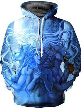 Cool design Lightweight Loose Model Vibrant Color 3D Painted Hoodie