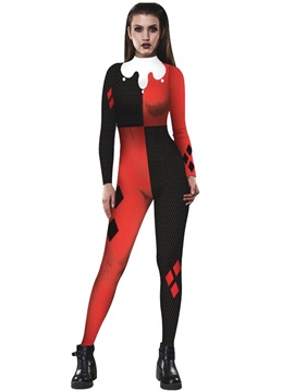 3D Style Stretch Halloween Costume Skinny Model Jumpsuit