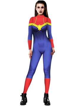 Stretch Skinny 3D Style Halloween Cosplay Costume Bodycon Jumpsuit