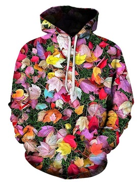 3D Print  Colorful Leaves Women's Hoodie Men's Hoodie Couple Outfit Creative Unisex Pullover Hoodies Fashion Long Sleeve Loose Sweatshirt Sportswear