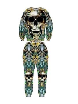 Skull Head Personality Cool Long-Sleeve Men's 3D Sweatshirt Sets