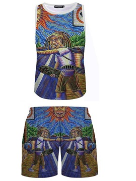 Casual Style 3D Fashion Man Printed Sleeveless & Shorts Sets