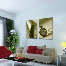 Classical Nostalgia Style Pocket Watch Pattern None Framed Wall Art Prints