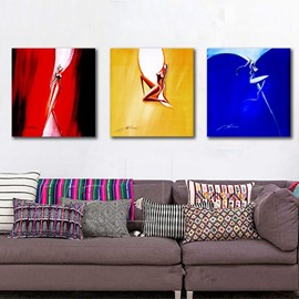 Abstract Square Sexy Girls Pattern 3 Pieces Canvas Stretched None Framed Wall Art Prints
