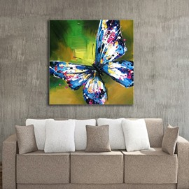 Vivid Handmade Blue Butterfly Design Decorative None Framed Wall Art Prints