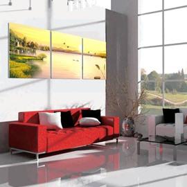 Fabulous Sunset Lake Scenery Design Decorative Non-framed Wall Art Prints