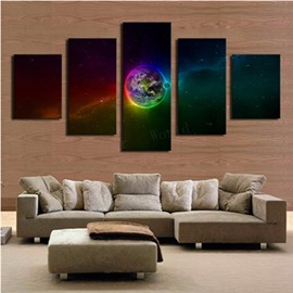 Operating Earth 5-Panel Canvas Hung Non-framed Wall Prints