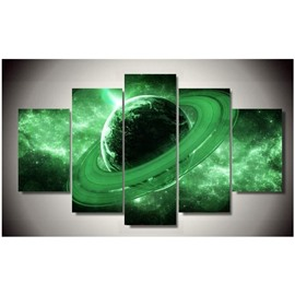 Green Earth 5-Panel Canvas Hung Non-framed Wall Prints