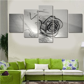 Glass Rose on The Floor Hanging 5-Piece Canvas Non-framed Wall Prints