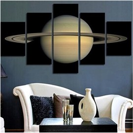 Rotating Planet Hanging 5-Piece Canvas Non-framed Wall Prints