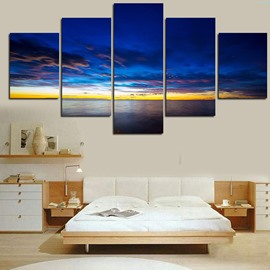 Blue Sky above The Sea Level 5-Piece Canvas Non-framed Wall Prints