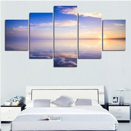 Sunrise above Sea Level 5-Piece Canvas Hung Non-framed Wall Prints