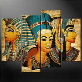 Egyptian Queens Hanging 4-Piece Canvas Non-framed Wall Prints