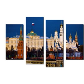 Russian Buildings Hanging 4-Piece Canvas Waterproof and Environmental Non-framed Prints