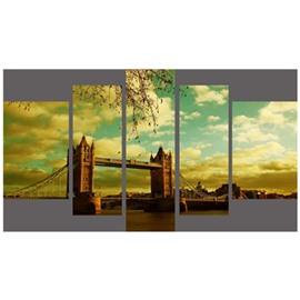 Tower Bridge Hanging 5-Piece Canvas Eco-friendly and Waterproof Non-framed Prints