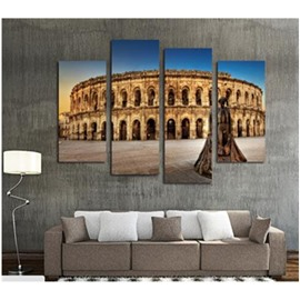 Castle Hanging 4-Piece Canvas Waterproof and Eco-friendly Non-framed Prints