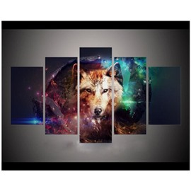 Fox Hanging 5-Piece Canvas Eco-friendly and Waterproof Non-framed Prints