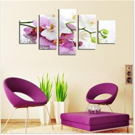 Flower Hanging 5-Piece Canvas Eco-friendly and Waterproof Non-framed Prints