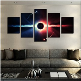 Star Pattern 5-Piece Canvas Hung Non-framed Wall Prints