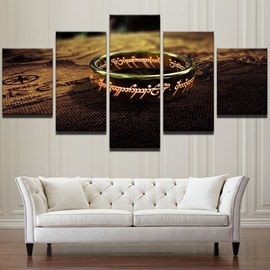 Creative Ring Pattern 5 Pieces Hanging Canvas Waterproof Eco-friendly Framed Wall Prints