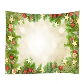 Merry Christmas Decoration Rings for Home Pattern Hanging Wall Tapestry