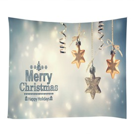 Festival Christmas Decoration Twinkle Stars Pattern Hanging Wall Tapestry