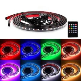 Decorative Side Strip Lights Multi-color LEDs Sound Sensitive Underbody Glow Lights