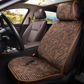 Electrical Heating PU Leather Front Single-seat Universal Car Seat Cover