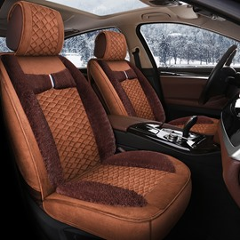 Winter Universal Cost-Effective Plaid Warm Car Drivers Seat Covers