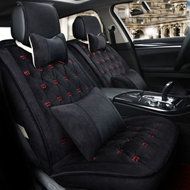 Four Color Classic Plaid Winter Warm Skin Friendly Suede Car Seat Cover