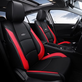 Color Block Business Style Leather Custom Car Seat Cover