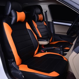Sports Style Color Block Fit Perfectly Mesh Design Ventilate Waterproof PU Leather Custom Fit Seat Cover