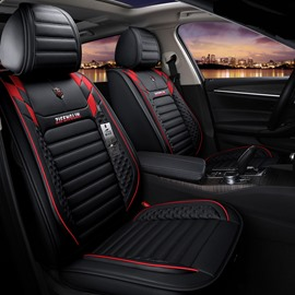 Sports Style Color Blocking Style Universal Leather Car Seat Covers