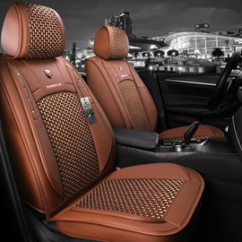 Modern Style Ice Silk Material Plain Pattern Universal Car Seat Cover