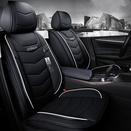 Business Style Plain Pattern PU Leather Truck Seat Cover
