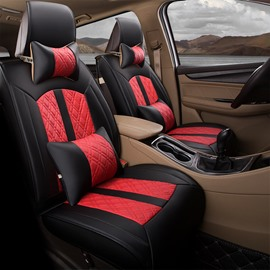 Simple Style PU Leather Cotton Filler Single Car Seat Covers