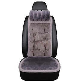 1 Winter Warm Front Seat Cover Pure Fox Hair And Wool Material Warm Comfortable Fluffy Noble Suitable For Most Cars