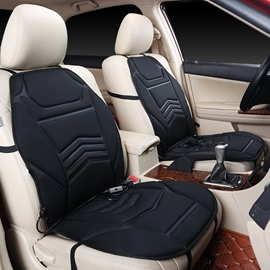 2 Winter Front Heated Seat Covers Safe Efficient Convenient And Temperature Adjustment Suitable For Car Or Home