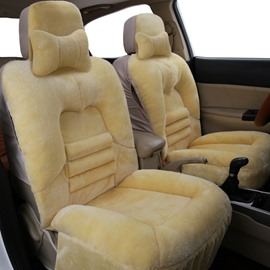 Don't Lose Hair Don't Fade Not Easy To Disconnect Suede Material Winter Warm 1 Front Single Seat Cover Suitable For Most Cars